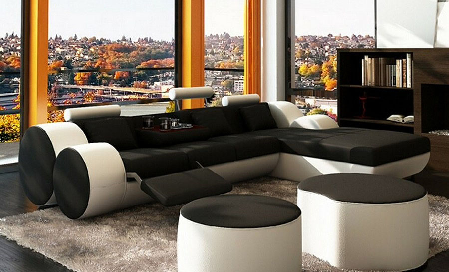 Bipollo 3SC - Leather Sofa Lounge Set
