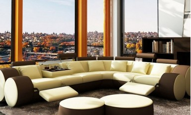 Bipollo - Leather Sofa Lounge Set
