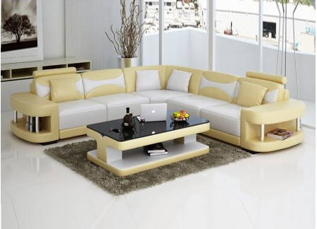 Andrepont - Leather Sofa Lounge Set