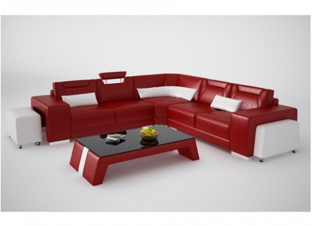 Mason - L - Leather Sofa Lounge Set