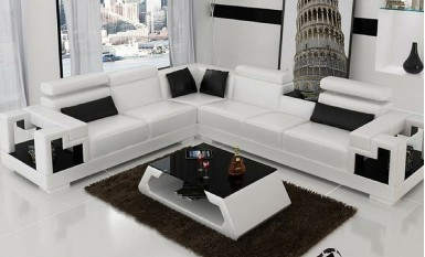 Lumere - L - Leather Sofa Lounge Set