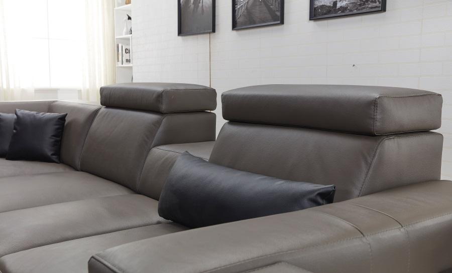 Lumere - L - Leather Sofa Lounge Set