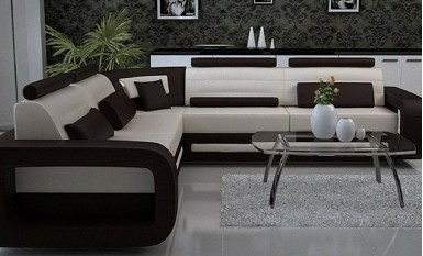 Ikari - L - Leather Sofa Lounge Set