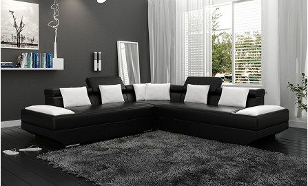 Gwen - L - Leather Sofa Lounge Set
