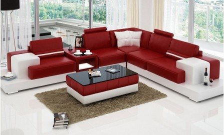 Forrey - L - Leather Sofa Lounge Set