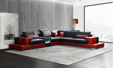 Forrey - L - Leather Sofa Lounge Set