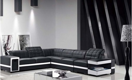 Batilda Leather Sofa Lounge Set