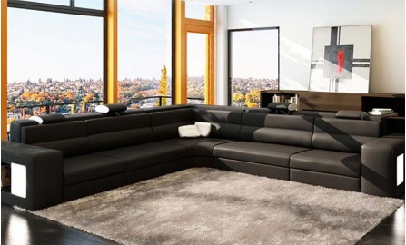 Cara - L - Leather Sofa Lounge Set