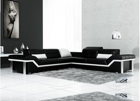Beatrix - L - Leather Sofa Lounge Set