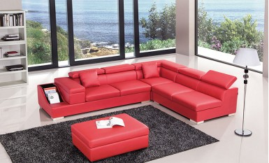 Vienna - L -  Leather Sofa Lounge Set