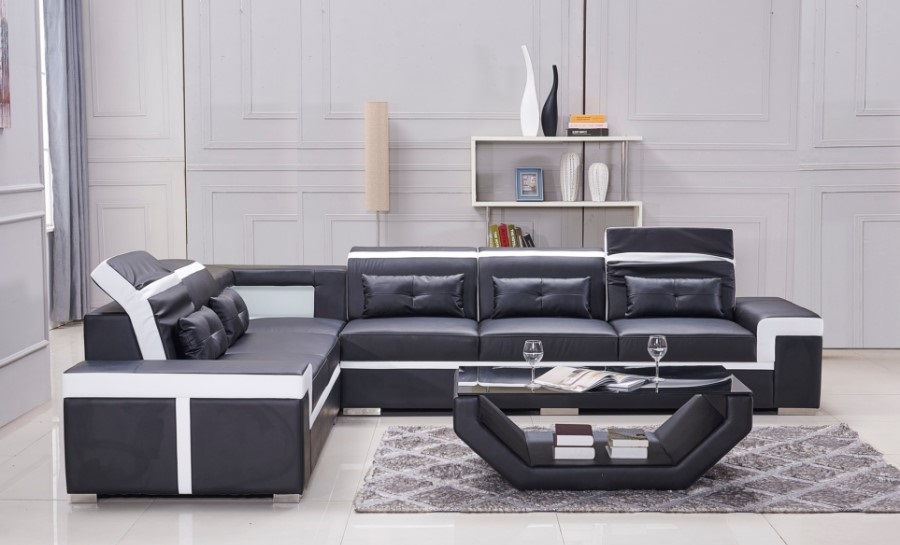 Ruby - L - Leather Sofa Lounge Set