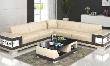 Kevlar - L - Leather Sofa Lounge Set