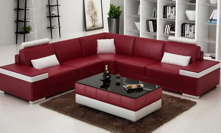 Juliet  - L - Leather Sofa Lounge Set