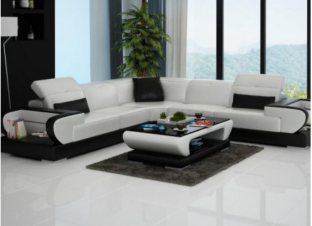 Gainsworth - L- Leather Lounge Set