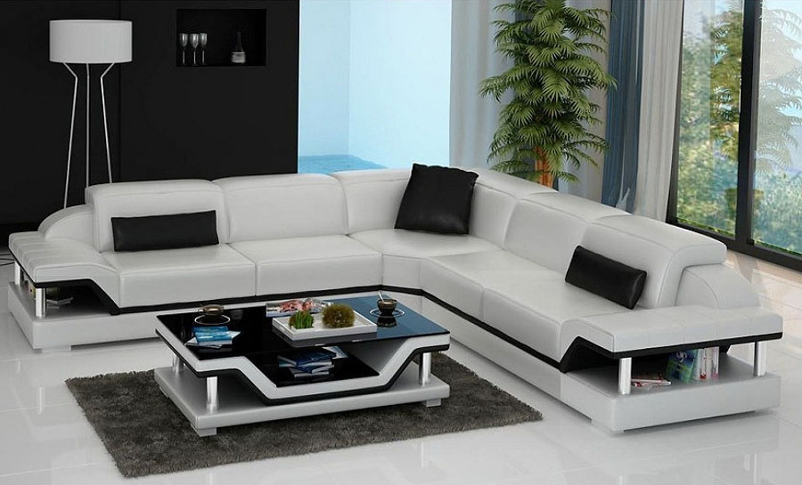 Nexus - L - Leather Sofa Lounge Set