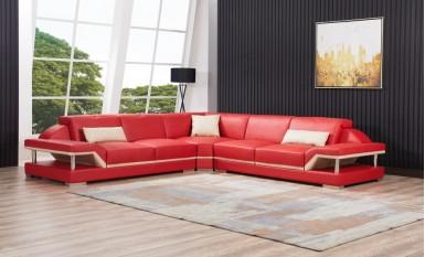 Nexus - L - Leather Sofa Lounge Set