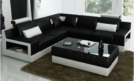 Avery - L - Leather Sofa Lounge Set