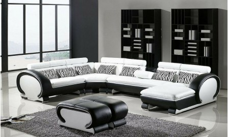 Senza - U - Leather Sofa Lounge Set