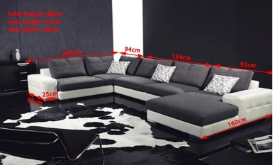Paris Leather Sofa Lounge Set