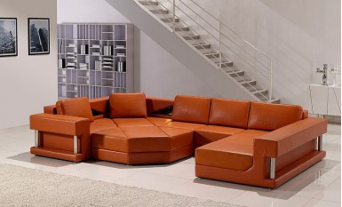 Gordon Leather Sofa Lounge Set