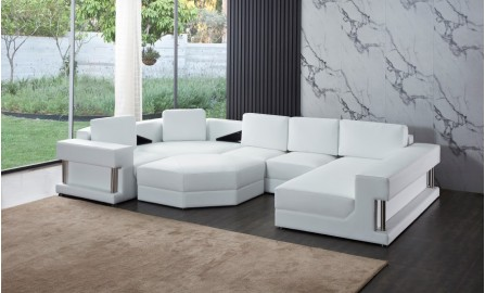 Gordon Leather Sofa Lounge Set