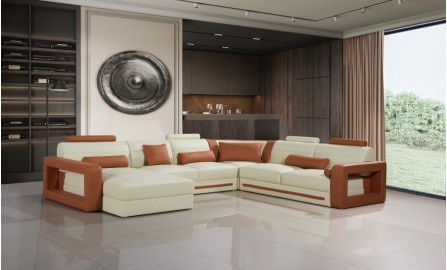 Ikari - U - Leather Sofa Lounge Set