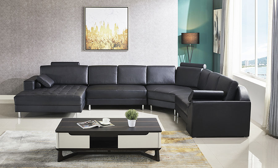 Heather Leather Sofa Lounge Set