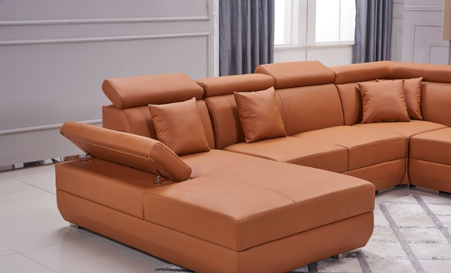 Gwen - U - Leather Sofa Lounge Set