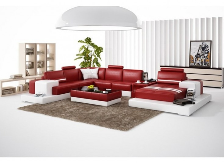 Forrey - U Leather Sofa Lounge Set
