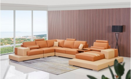 Forrey - U Leather Sofa Lounge Set