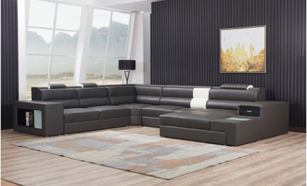 Cara - U - Leather Sofa Lounge Set