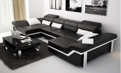Beatrix - U/s - Leather Sofa Lounge Set