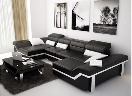 Sofas, Couches & Lounges - Customisable Leather Sofa at Desired Living