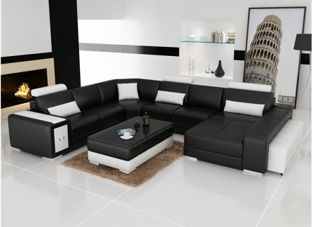Adra - U2 - Leather Sofa Lounge Set