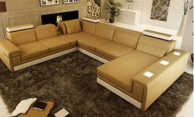 Yarra Leather Sofa Lounge Set