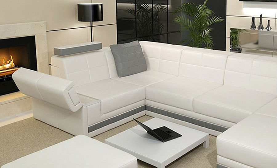 Yarra -1 Leather Sofa Lounge Set