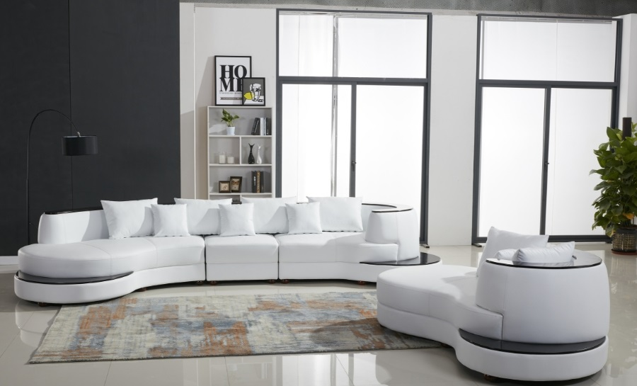 Sierra Leather Sofa Lounge Set