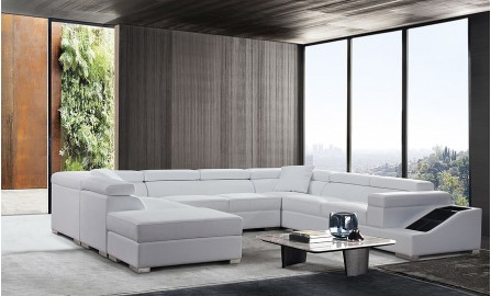 Vienna - U - Leather Sofa Lounge Set