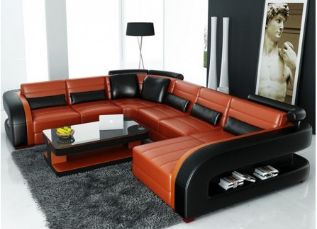 Umbra - U - Leather Sofa Lounge Set