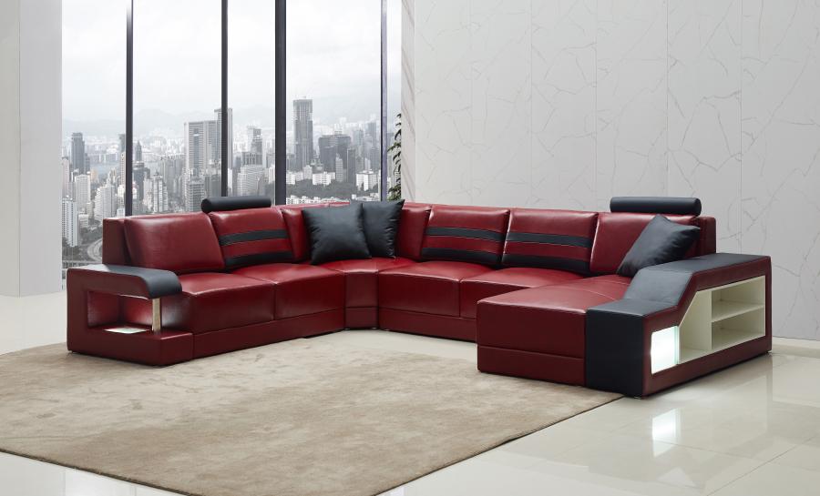 Tessie - U - Leather Sofa Lounge Set