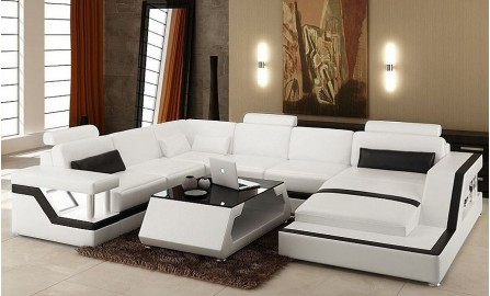 Selvatore -U- Leather Lounge Set