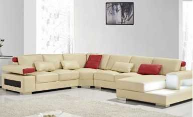 Quinton Leather Sofa Lounge Set