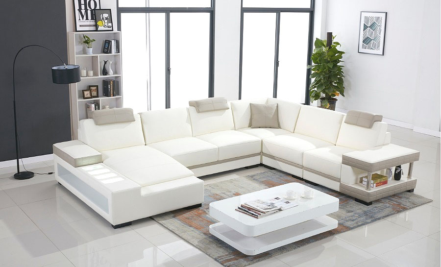 Prichard Leather Sofa Lounge Set