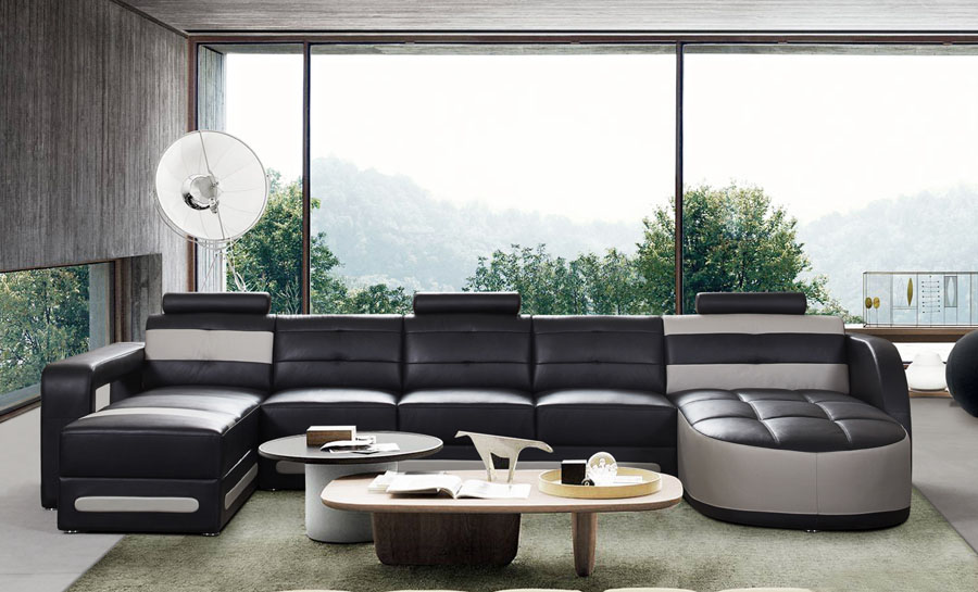 Nova - U1 Leather Sofa Lounge Set
