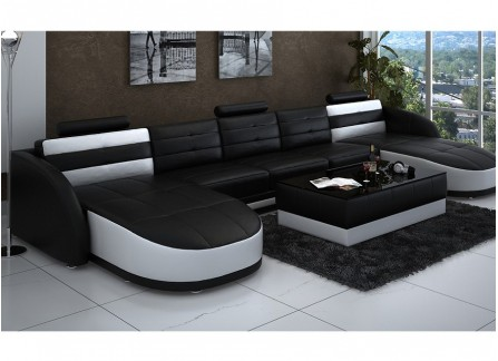 Nova - U2 Leather Sofa Lounge Set