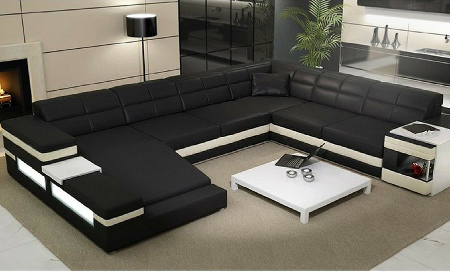 Merida Leather Sofa Lounge Set