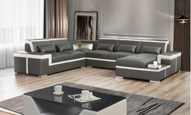 Ruby - U - Leather Sofa Lounge Set