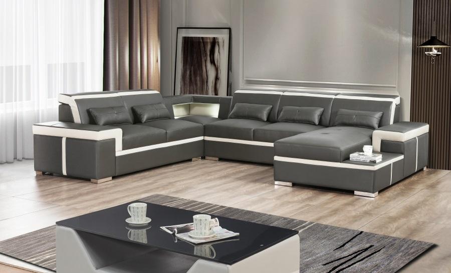 Ruby - U - Leather Sofa Lounge Set