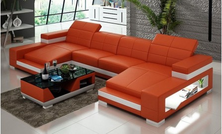 Kevlar- U2 - Leather Sofa Lounge Set