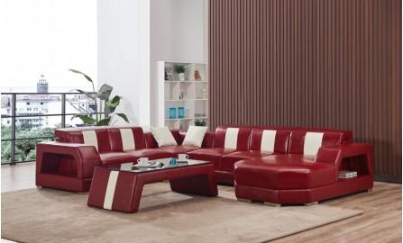 Inada Leather Sofa Lounge Set